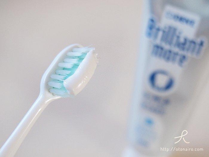 歯磨き粉ブリリアントモアのペースト状態